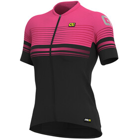 Alé Cycling Graphics PRR Slide SS Jersey Dame black/fluo pink